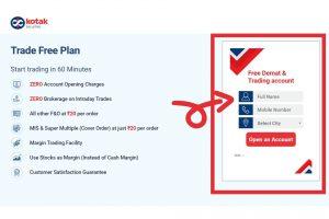 Step 1 Kotak Securities Account Opening Process