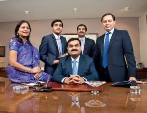 Gautam Adani with his family members