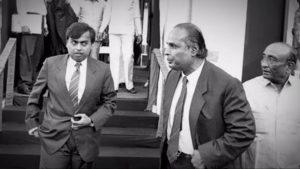 Young Mukesh Ambani with his father | Mukesh Ambani's Success Story