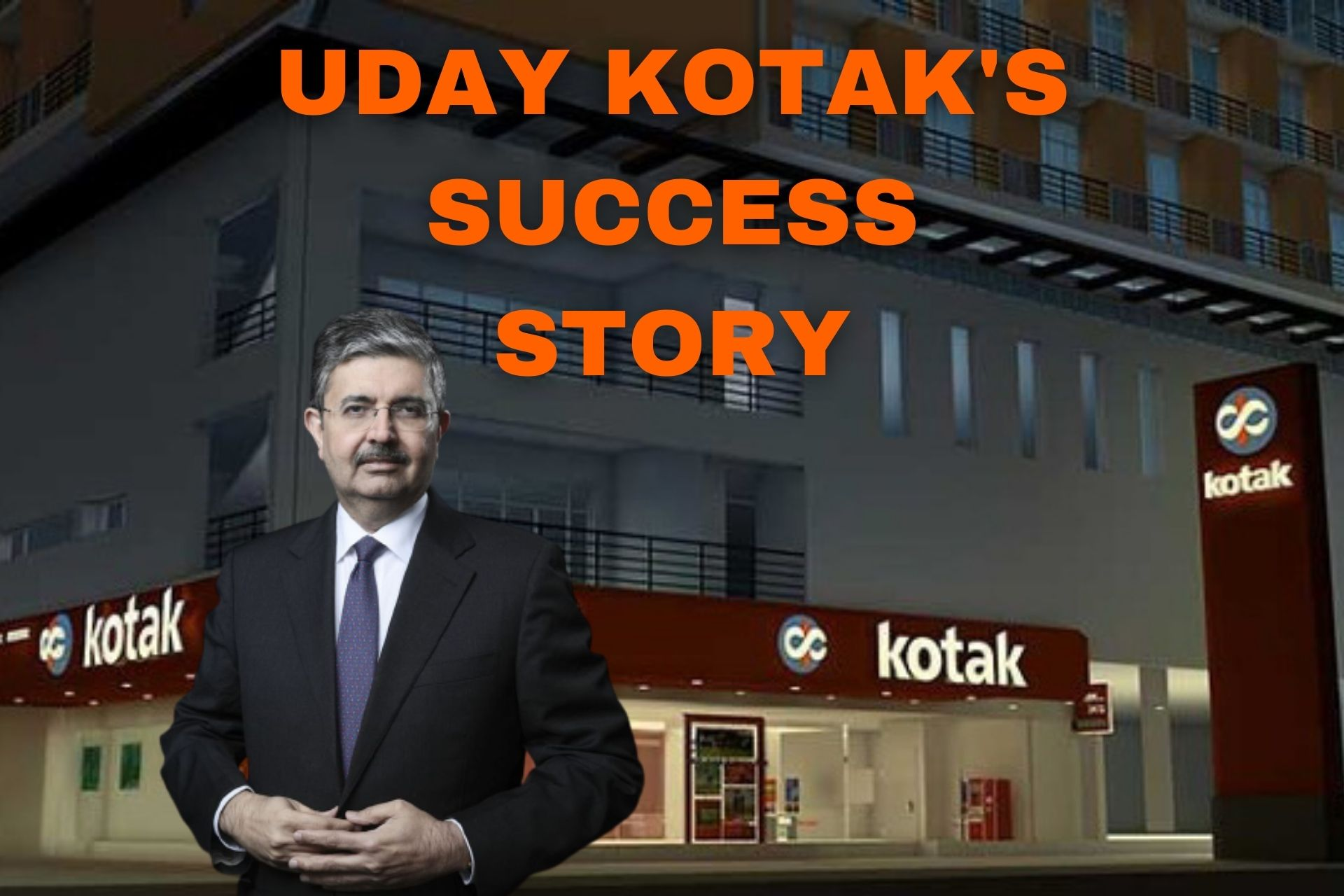 Uday Kotak's Success Story: An Inspiring Journey of India's Richest Banker cover