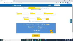 How to Open Demat Account at Angel Broking step 2