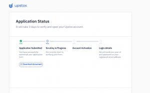 upstox account opening process 2