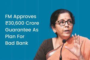 Nirmala Sitharaman lays out plan for bad bank Cover