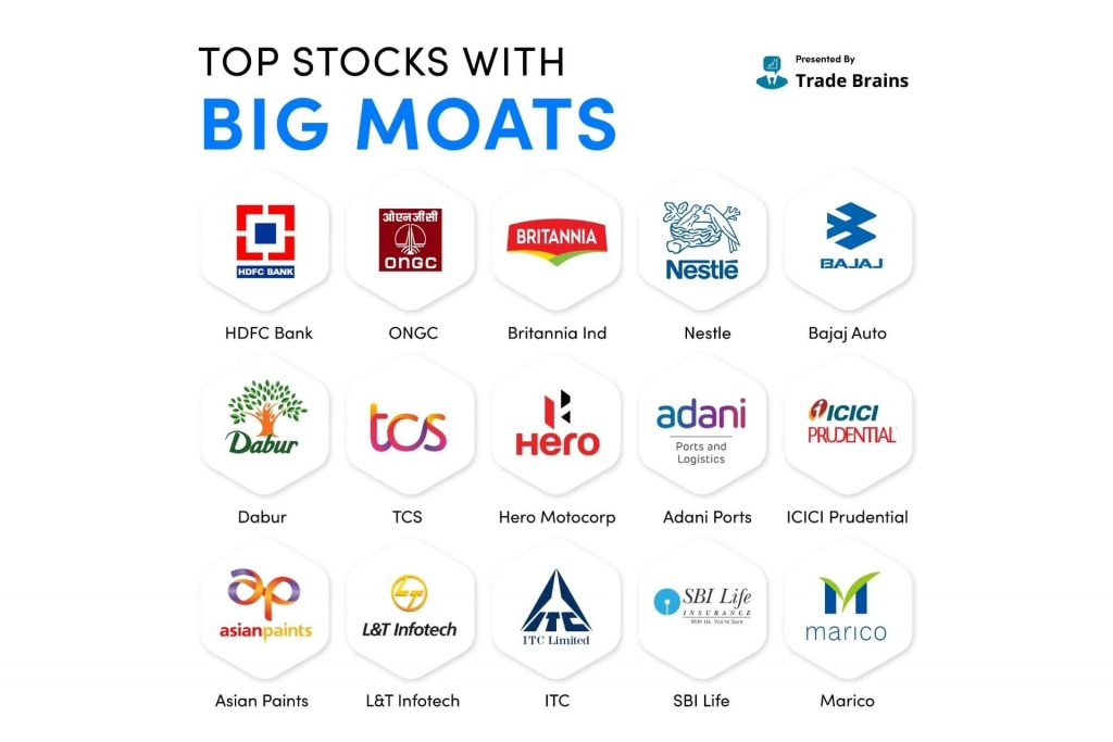 Big MOATS Stocks - invest your first Rs 1,000